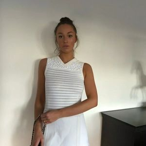 Ivory Louis Vuitton Resort 2012 White Dress